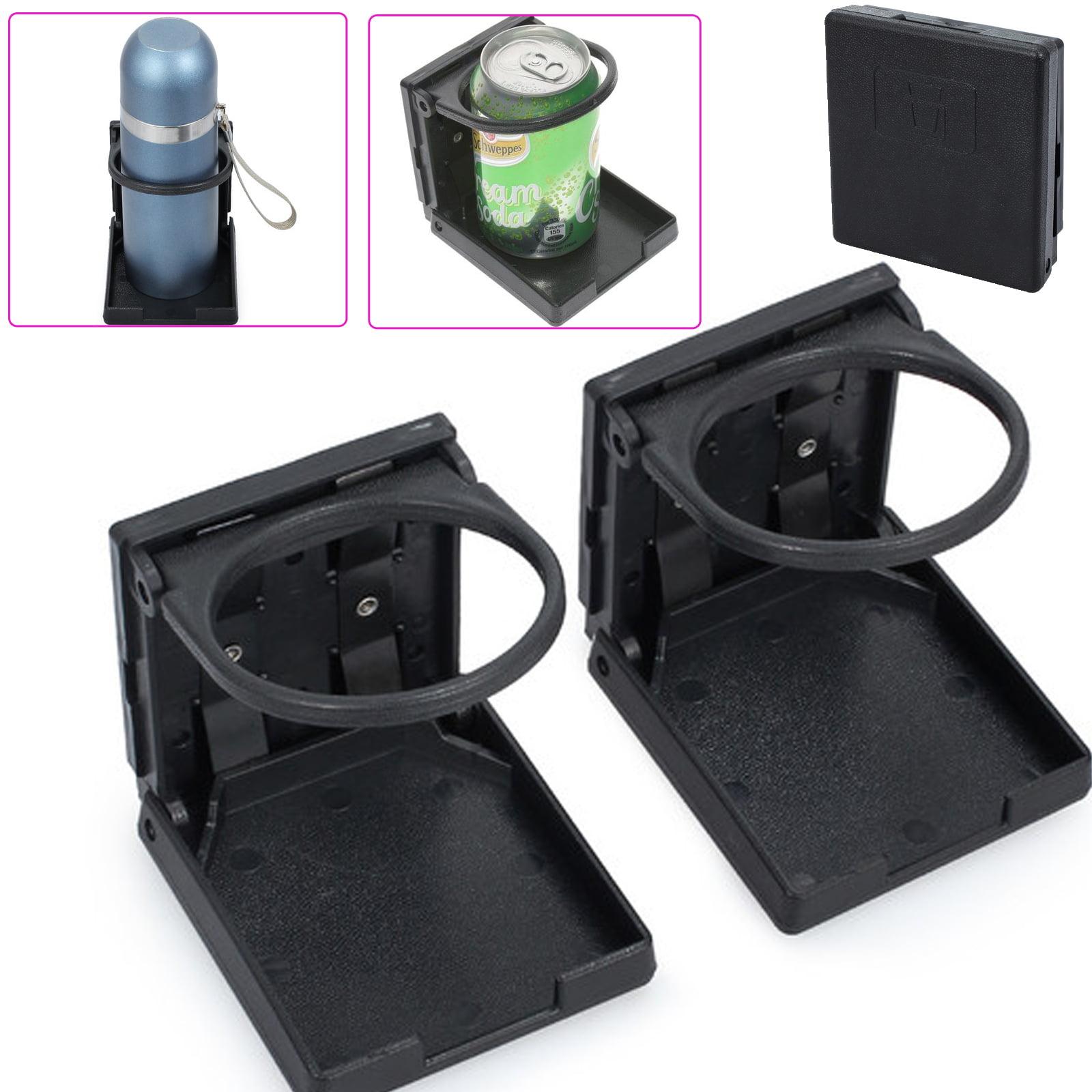 Black Cup Holders Corrosion-resistant Adjustable Folding Interior Inner