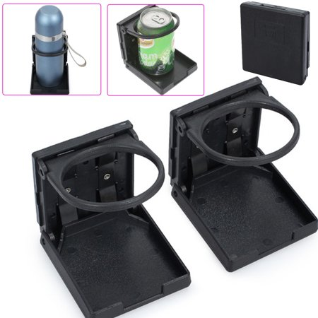 ESYNIC 2pcs Folding Cup Drink Holder Car Cup Holder Organizer Car Drink Holder Bracket Stand Plastic Folding Car Back Seat Drink Cup Bottle Holder for Universal Car Boat Vehicle (Car Cup Holder Adapter)
