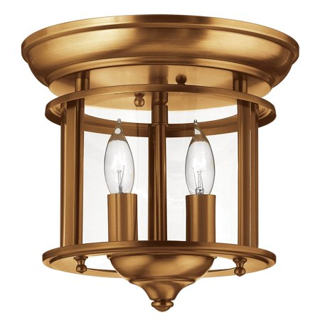 Gentry 2-Light Flush Mount in Heirloom (Non Lacquered Brass Flush)
