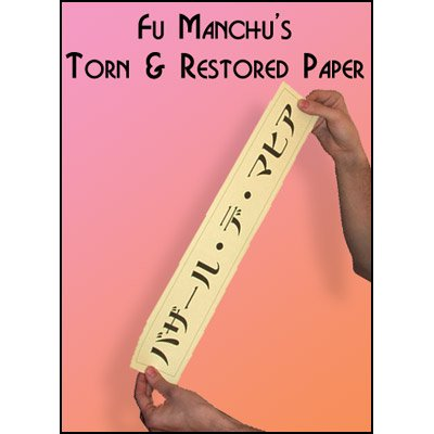 Torn and Restored Paper by Fu Manchu - Trick (Best Torn And Restored Card)