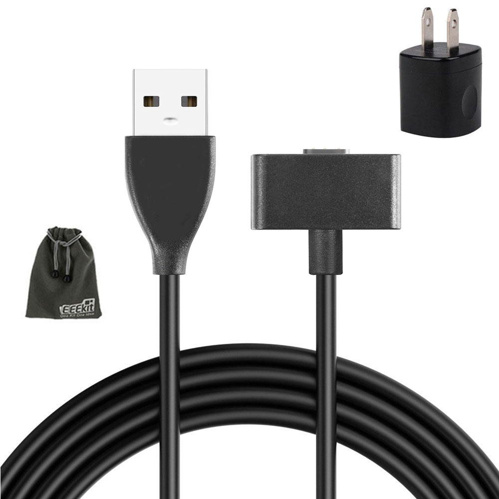 2in1 Charger Kit for Fitbit Ionic, 3FT Replacement Charging Cable Cord + USB Power Adapter + Storage Pouch for Fitbit Ionic Smart Watch