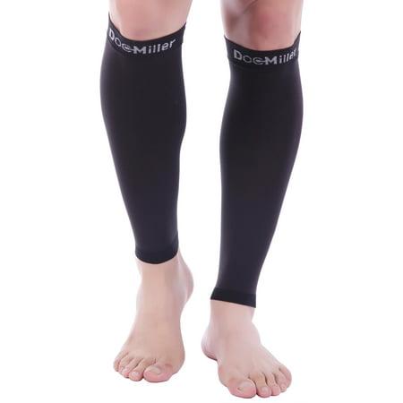 Doc Miller Premium Calf Compression Sleeve 1 Pair 20-30mmHg Medical Grade Strong Calf Support Graduated Pressure Sports Running Recovery Shin Splints Varicose Veins CVD Yoga Socks 2XL 3XL 4XL