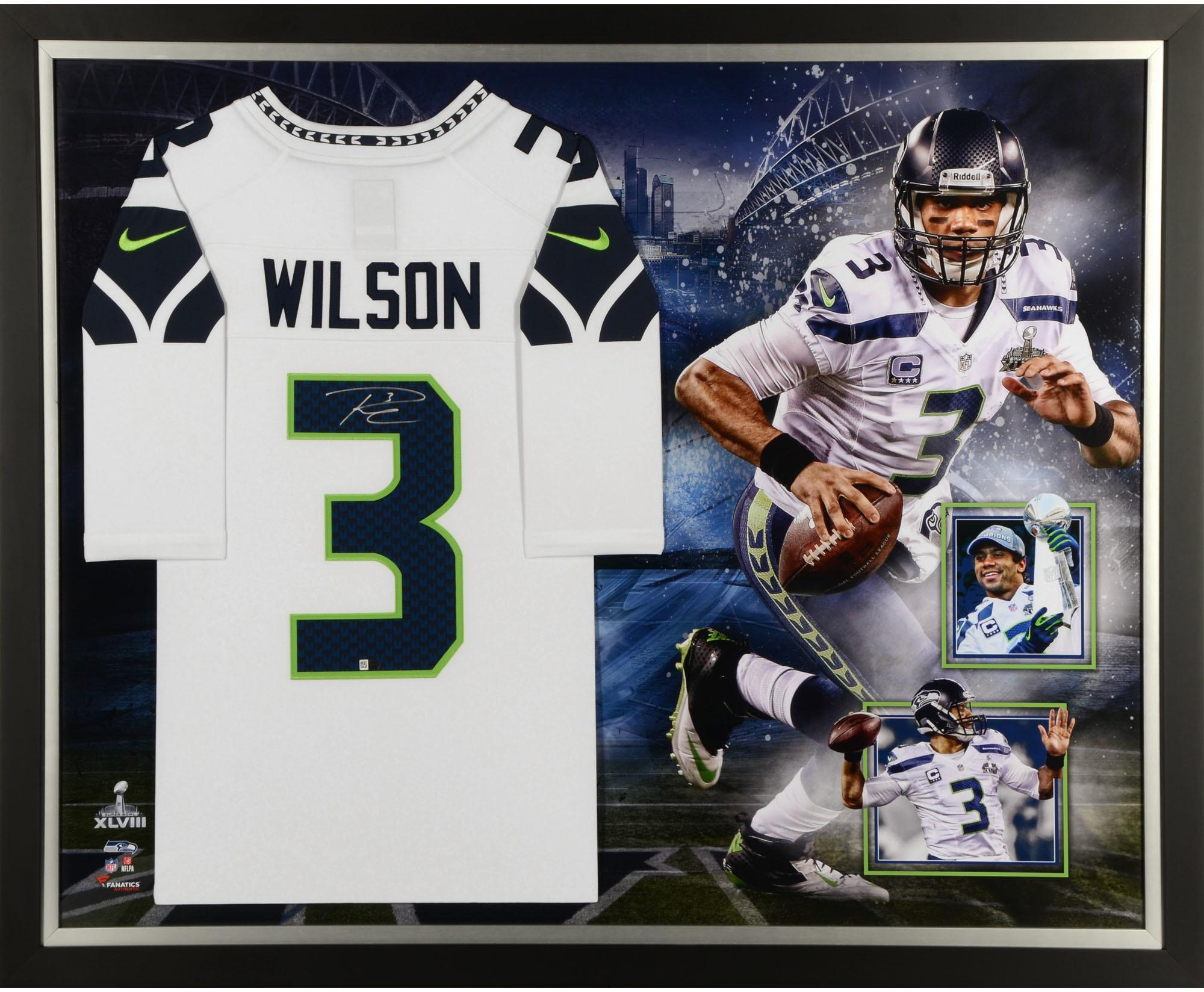 Russell Wilson Seattle Seahawks Framed Autographed Jersey Collage - Fanatics Authentic Certified - Walmart.com