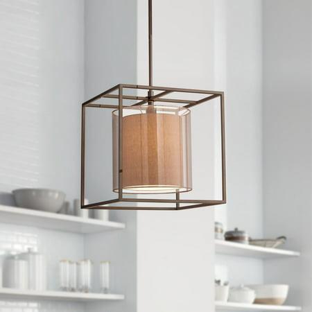 Possini Euro Design Conroe Oil-Rubbed Bronze Metal Cube 18