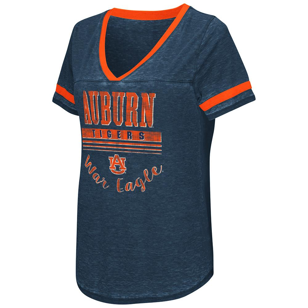 Womens Auburn Tigers Short Sleeve Tee Shirt S by Colosseum
