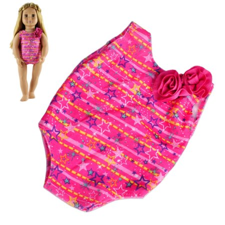 Moaere 2 Sets Doll Summer Bikini Swimwear Swimsuits Bathing Suits for American Girl 18 Inch Dolls (Two Doll Set)