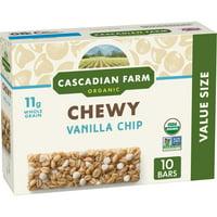Cascadian Farm Organic Vanilla Chip Chewy Granola Bars, 10 Ct