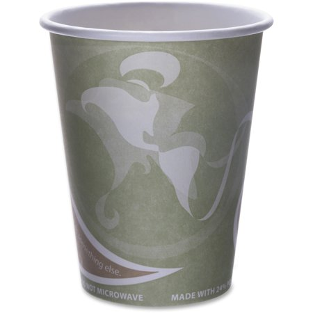 Eco-Products, ECOEPBRHC12EW, Recycled Hot Cups, 1000 / Carton, Multi (Coffee Mug Recycle)