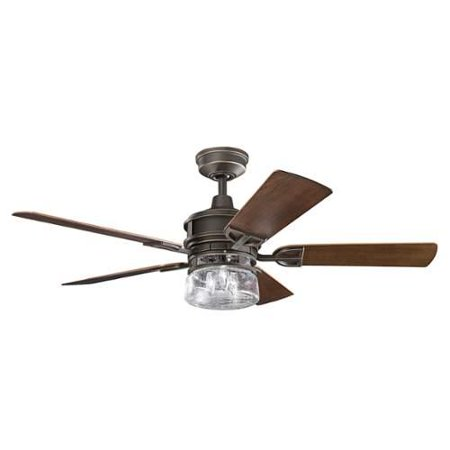 Kichler 310139 52 Outdoor Ceiling Fan With Blades Light