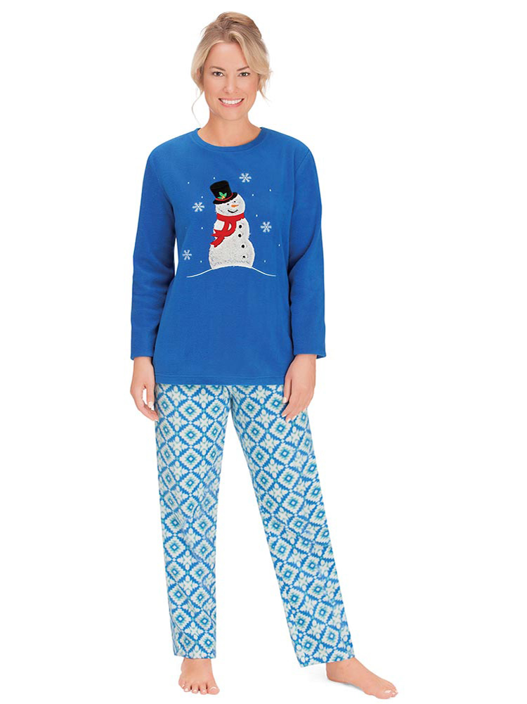 Inspirations Women/'s Candy Warm and Soft Microfleece Pyjamas 10 to 20