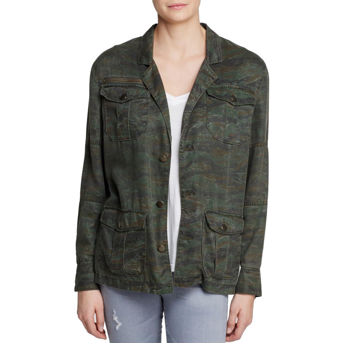 Pam & Gela Womens Tencel Camouflage Jacket