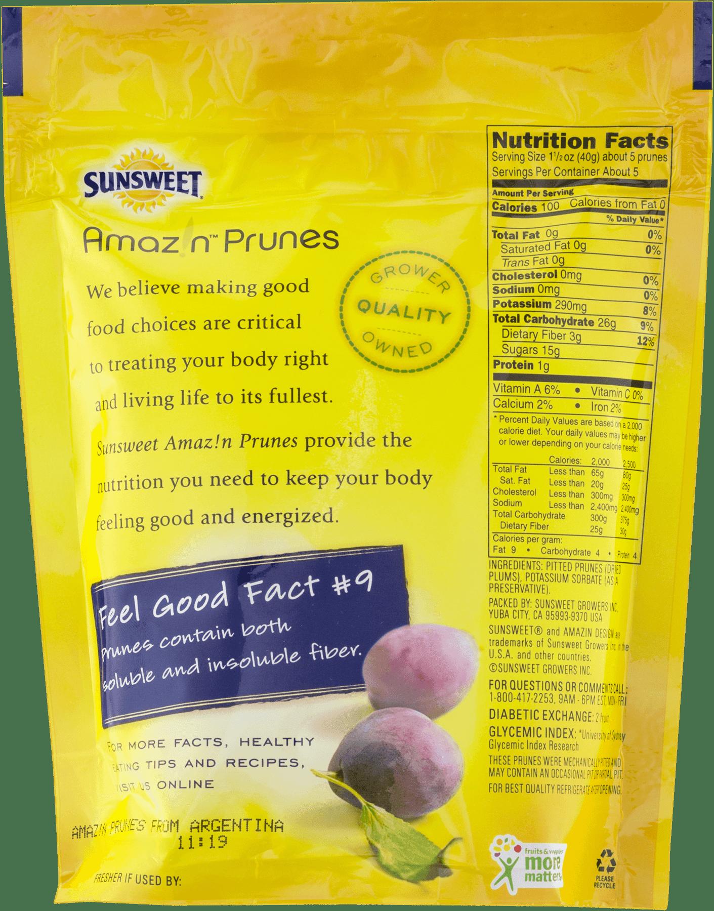 (3 Pack) Sunsweet Pitted Prunes, 8 Oz - Walmart.com