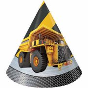 Creative Converting Construction Birthday Zone Party Hats