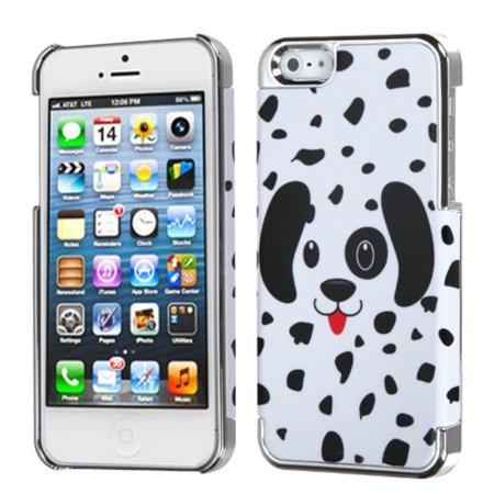 Insten For APPLE iPhone SE 5 Specialty Slim Back Case Cover Dotted Dalmatian/MyDual - image 4 de 4