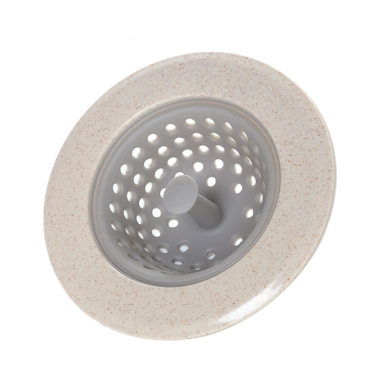 """Good Grips In-Sink Silicone Drain Strainer, Circle Sink Stopper, Good Clean Solutions, 4.3"""" Diameter, Beige"""