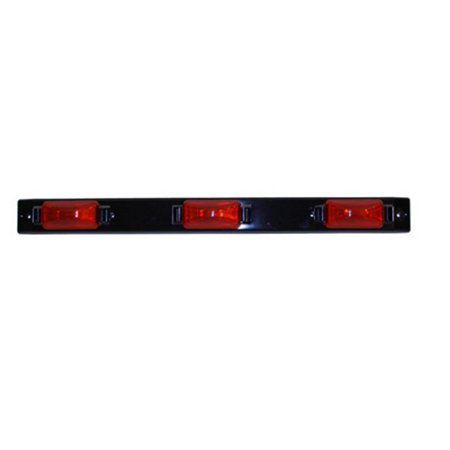 Trailer Light Bar - Peterson Manufacturing 150-3R Sealed Submersible ID Light Bar for Trailers over 80in. - Red