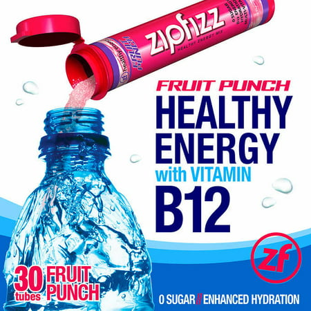 Zipfizz Healthy Energy Drink Mix, 30 Tubes  Fruit Punch Flavor](Halloween Healthy Punch)