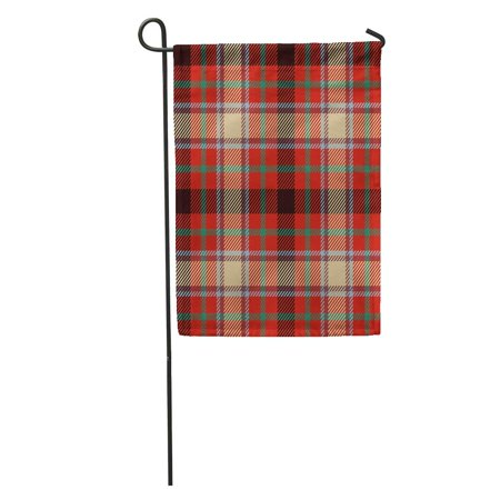 NUDECOR Tartan for Tiles Suits and House Interior As Well Hand Garden Flag Decorative Flag House Banner 12x18 inch - image 1 de 2