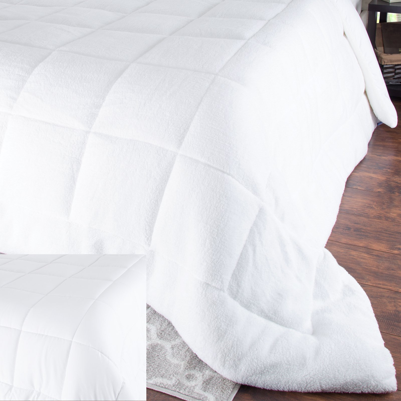 Oversized Reversible Down Alternative Comforter by Bluestone