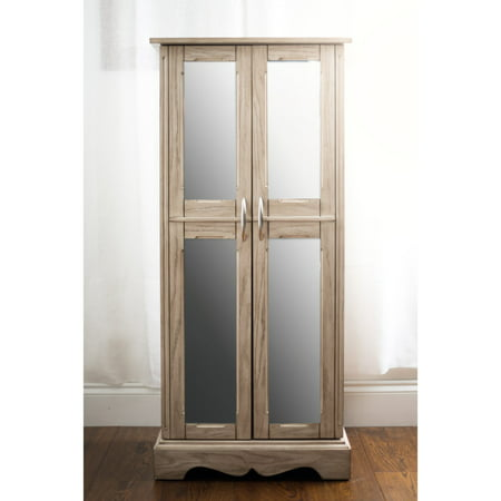 Hives & Honey Chelsea Standing Jewelry Armoire - Taupe Mist