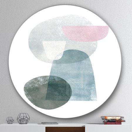Designart 'Distressed Dream III' Geometric Metal Circle Wall Art - image 1 de 3
