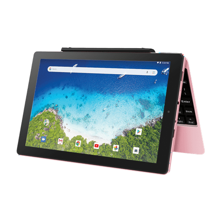 "RCA Viking Pro 10.1"" Android 2-in-1 Tablet 32GB Quad Core, Pink"