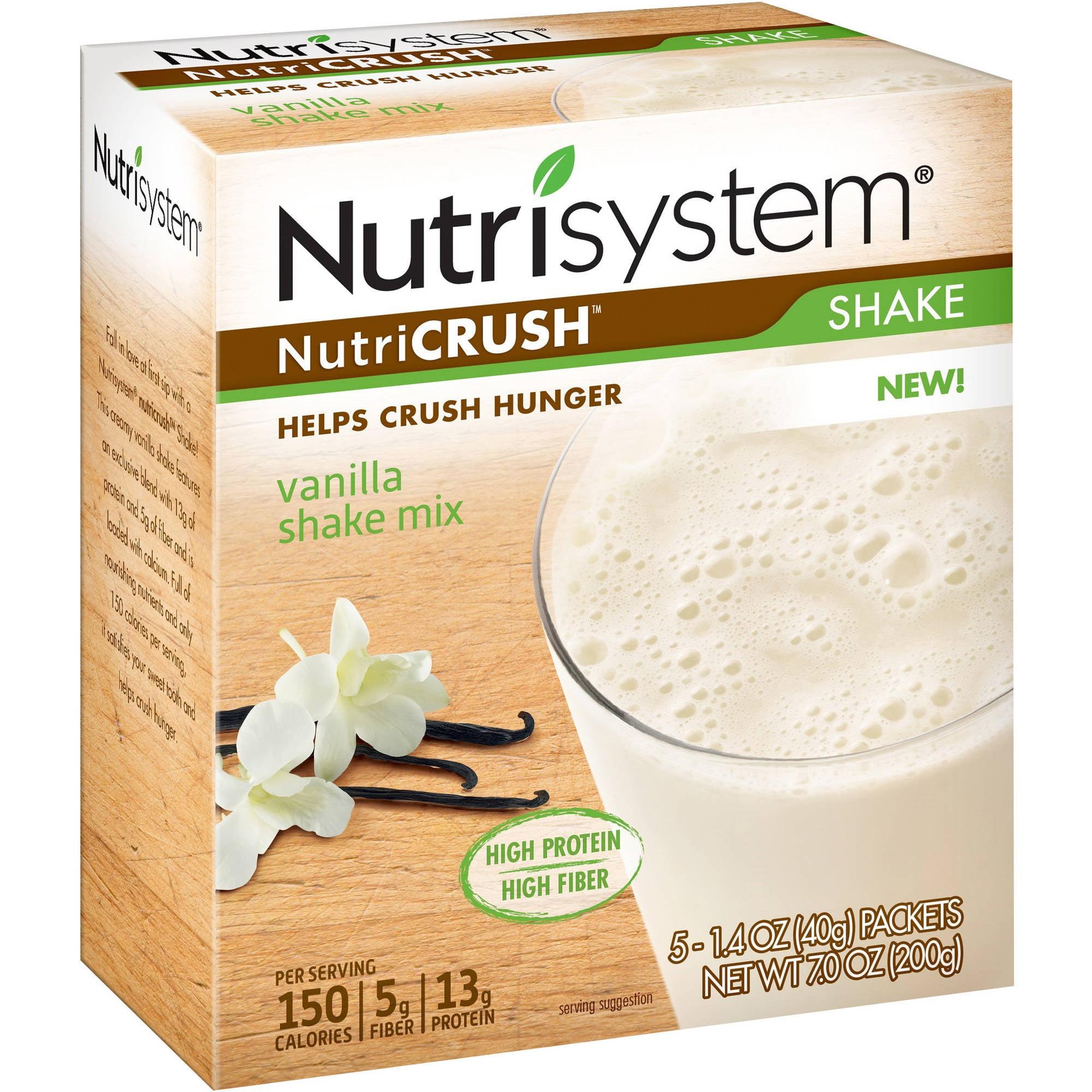 Nutrisystem NutriCrush Vanilla Shake Mix, 1.4 Oz, 5 Ct