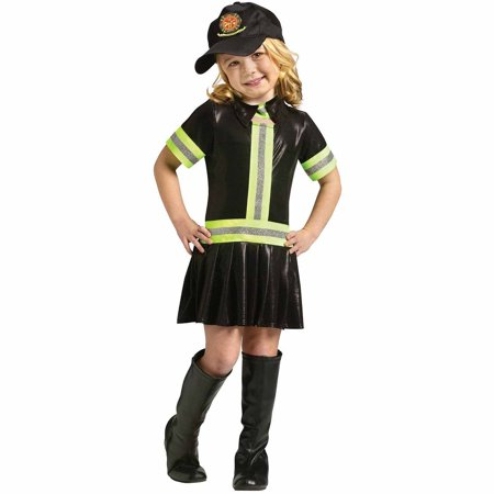 Fire Chief Fighter Woman Fireman Dress Child Girls Toddler Halloween Costume - Toddler Fireman Halloween Costume