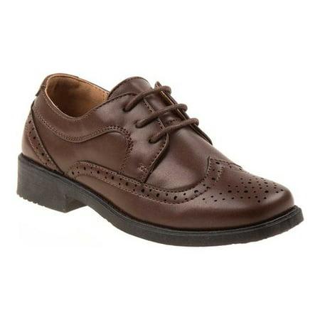 Josmo Boys' Wingtip Dress Shoes Boys Black Patent Leather