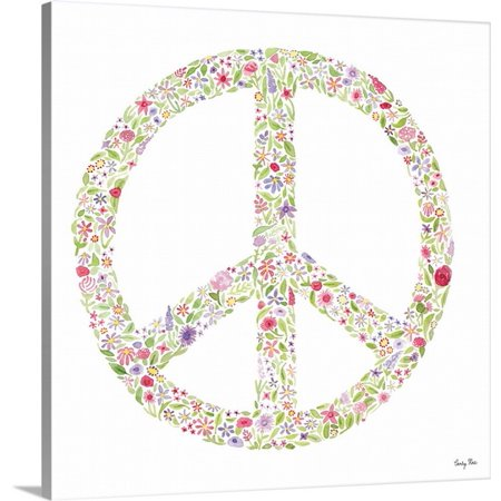 Great Big Canvas Carly Rae Studio Premium Thick Wrap Canvas Entitled Peace Sign