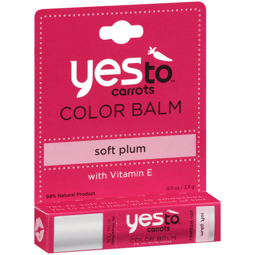 Yes To Carrots Color Balm, Soft Plum, 0.11 oz