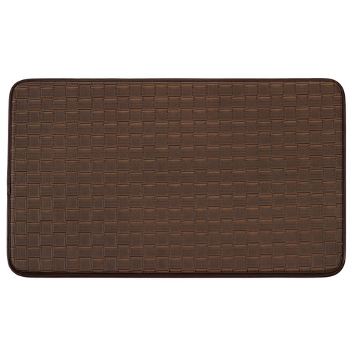 Chef Gear Faux-Leather Basket Weave 18 x 30 in. Comfort Chef Mat