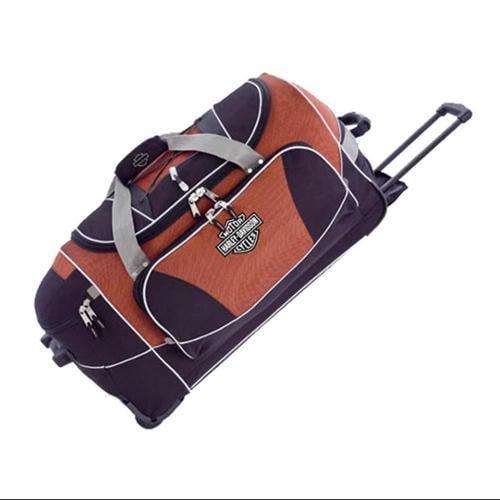 Harley-Davidson Hybrid Luggage 29'' Travel Equipment Duffel, Rust/Black  99629-RB