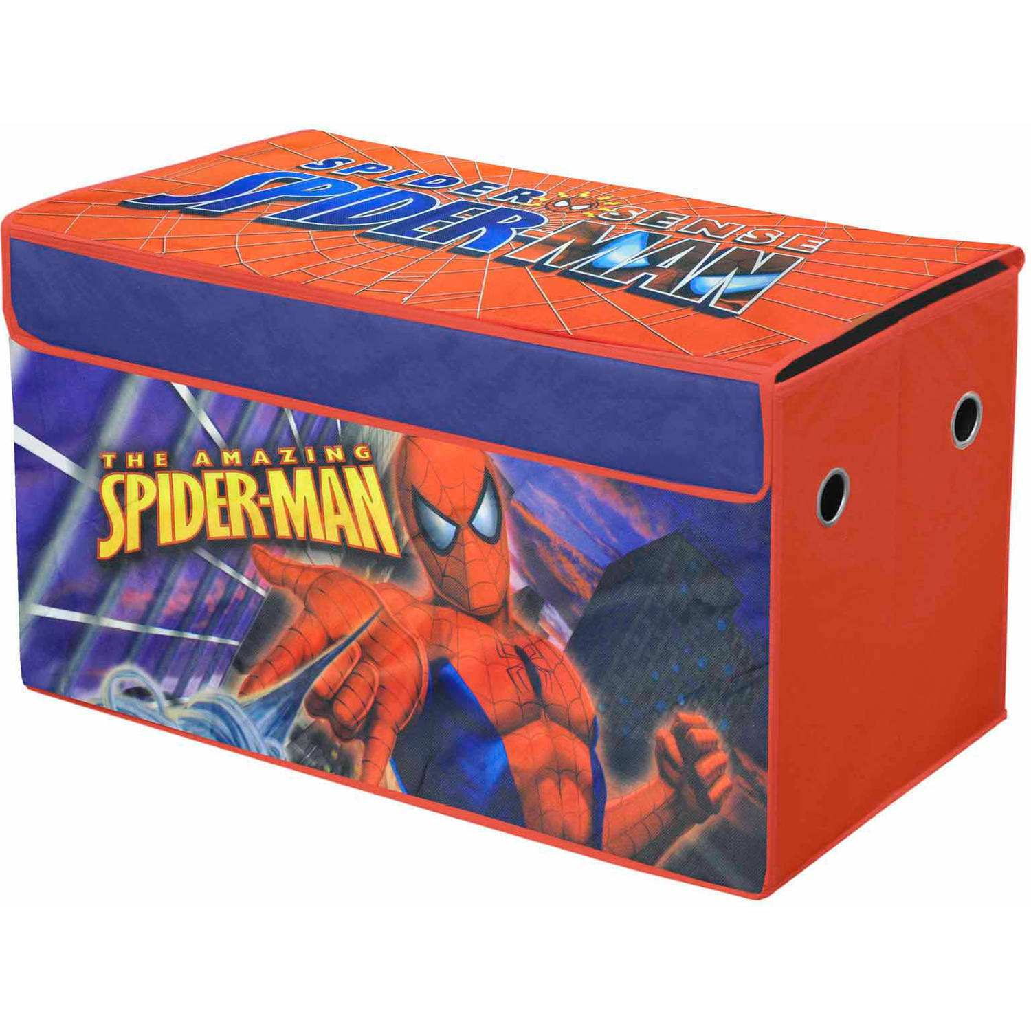 Marvel Spiderman Oversized Soft Collapsible Storage Toy Trunk   Walmart.com