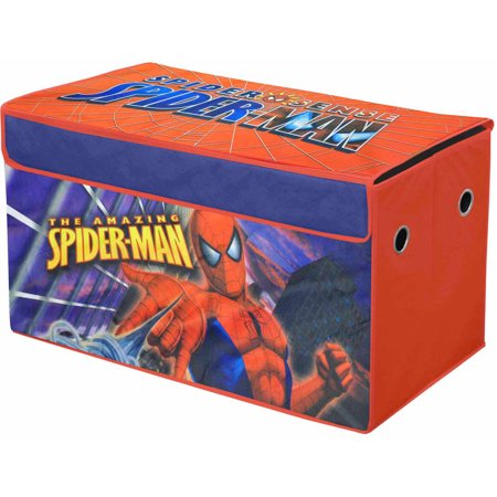 Spider Man Toy Box - Marvel Spiderman Oversized Soft Collapsible Storage Toy Trunk