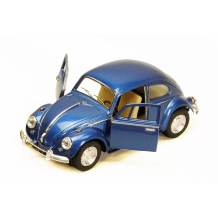 (1967 Volkswagen Classic Beetle, Blue - Kinsmart 5057D - 1/32 scale Diecast Model Toy Car (Brand New, but NOT IN BOX))