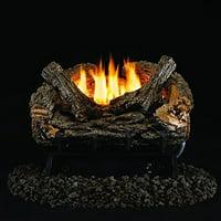 Peterson Real Fyre 16-inch Valley Oak Log Set With Vent-free Natural Gas Ansi Certified 9,500 Btu G8-r Burner - Manual Safety Pilot