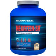 BodyTech Hexatein SR™ (Staged Release)  6 Protein Blend for Muscle Growth  Recovery + EFA's, MCT's  CLA, Cookies  Cream (5 Pound Powder)