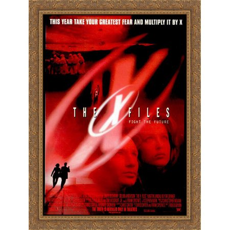 The X Files Fight The Future 28x38 Large Gold Ornate Wood Framed Canvas Movie Poster Art ()
