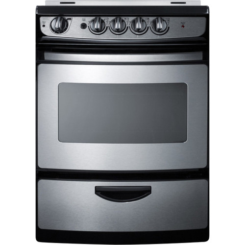 Summit Appliance Summit 24'' Slide-In Smooth-Top Electric Range