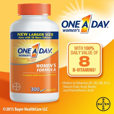 One-A-Day Women's Formula Complete Multivitamin Tablets, 300 (Vegetables Multivitamin Formula)