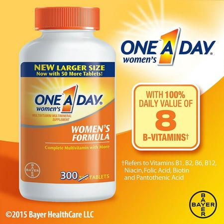 One-A-Day Women's Formula Complete Multivitamin Tablets, 300 (Vegetables Multivitamin Formula)