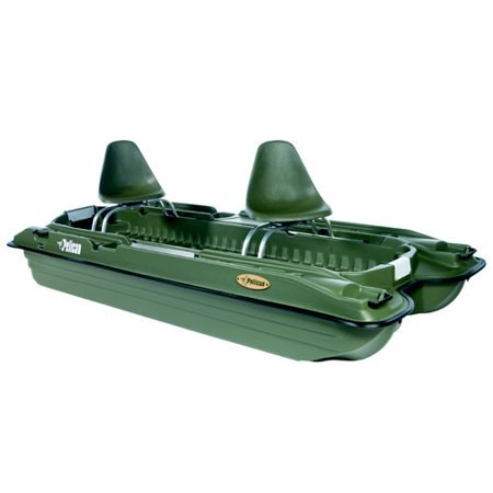 Pelican bass raider 10 39 mini pontoon fishing boat for Pond fishing boats