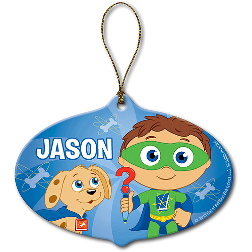 Personalized Super Why! Hello Woofster Christmas Ornament