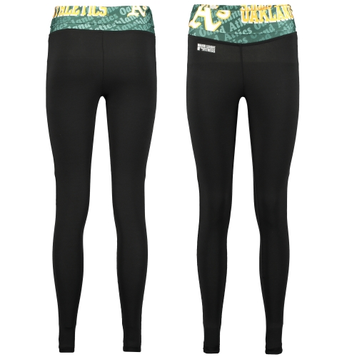 Oakland Athletics Women's Knit Leggings - Black