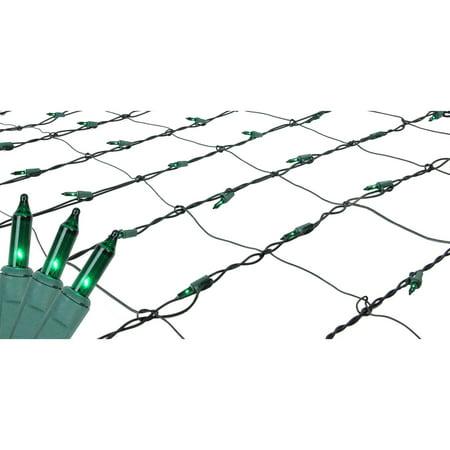 4' x 6' Green Mini Net Style Christmas Lights - Green - Halloween Outdoor Net Lights