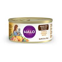 Halo Grain Free Senior Wet Cat Food, Turkey & Chickpea 5.5-Ounce Can
