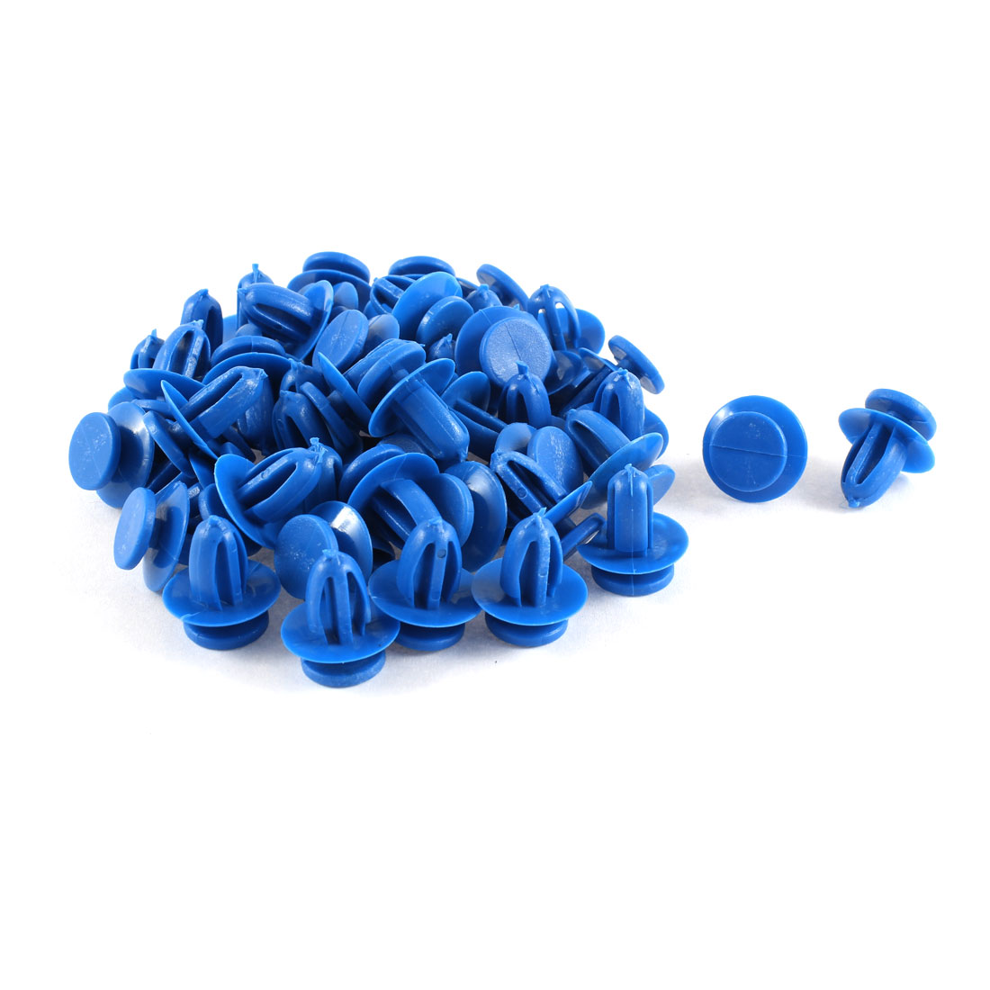 Unique Bargains 50 Pcs Blue Plastic Push in Fasteners Rivets Fender Clips 9mm Hole for