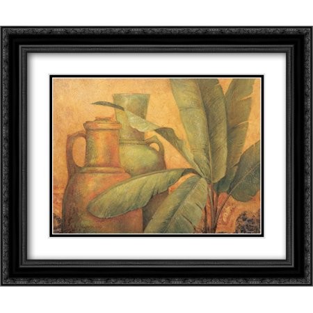 Trade Winds I 2x Matted 24x20 Black Ornate Framed Art Print by Gladding, Pamela