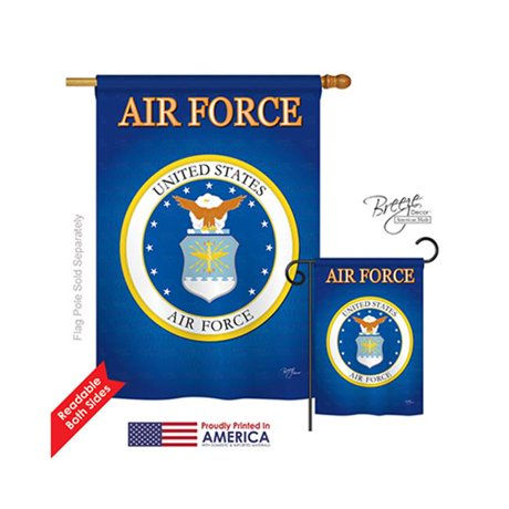 Breeze decor 08054 military air force 2 sided vertical for Decor 6 air force